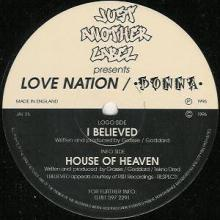 Love Nation  Donna - I Believed  House Of Heaven (1996) [FLAC]