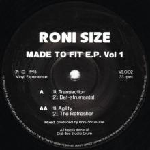 Roni Size - Made To Fit E.p. Vol 1 (1993) [FLAC]