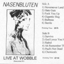 Nasenbluten - Live At Wobble (1993) [FLAC]