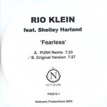 Rio Klein feat. Shelley Harland ‎– Fearless CDR